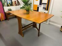 Danish Drop Leaf Slimline Dining Table - Mid Century Retro