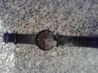 5 brand new mens luxury dress analog quartz watches with leather straps