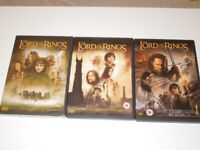 The Lord Of The Rings Trilogy 3 x DVD Set