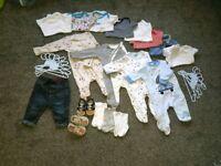 Baby boy baby bundle 0-3