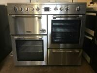Leisure electric range cooker 100cm stainless steel ex-display model free local delivery