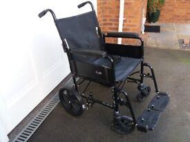 Lightweight folding wheelchair, Good condition disabled wheel chair
