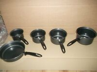 PAN SET X 5 PANS BY LIVING FROM ARGOS RRP £30.00 BNIB