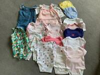 3-6 month baby girl summer bundle £10 the lot