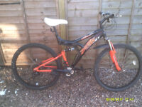 TRAX DUEL SUSPENSION/DISC BRAKE MTB ONE OF MANY QUALITY BICYCLES FOR SALE