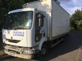 Renault Midlum Box Van 7500kg 4116cc Diesel 7.5T HGV Lorry Y Reg 10/03/2001 White