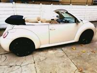 VW Beetle convertible long MOT Mint condition leather seats part exchange welcome