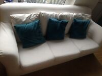 3 seater sofa in good condition. Removable covers and machine washable.
