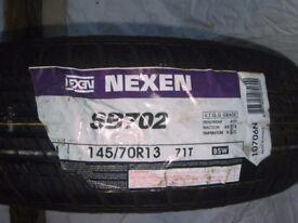 2 x Nexen SB702 tyres. 145/70R13 (71)T