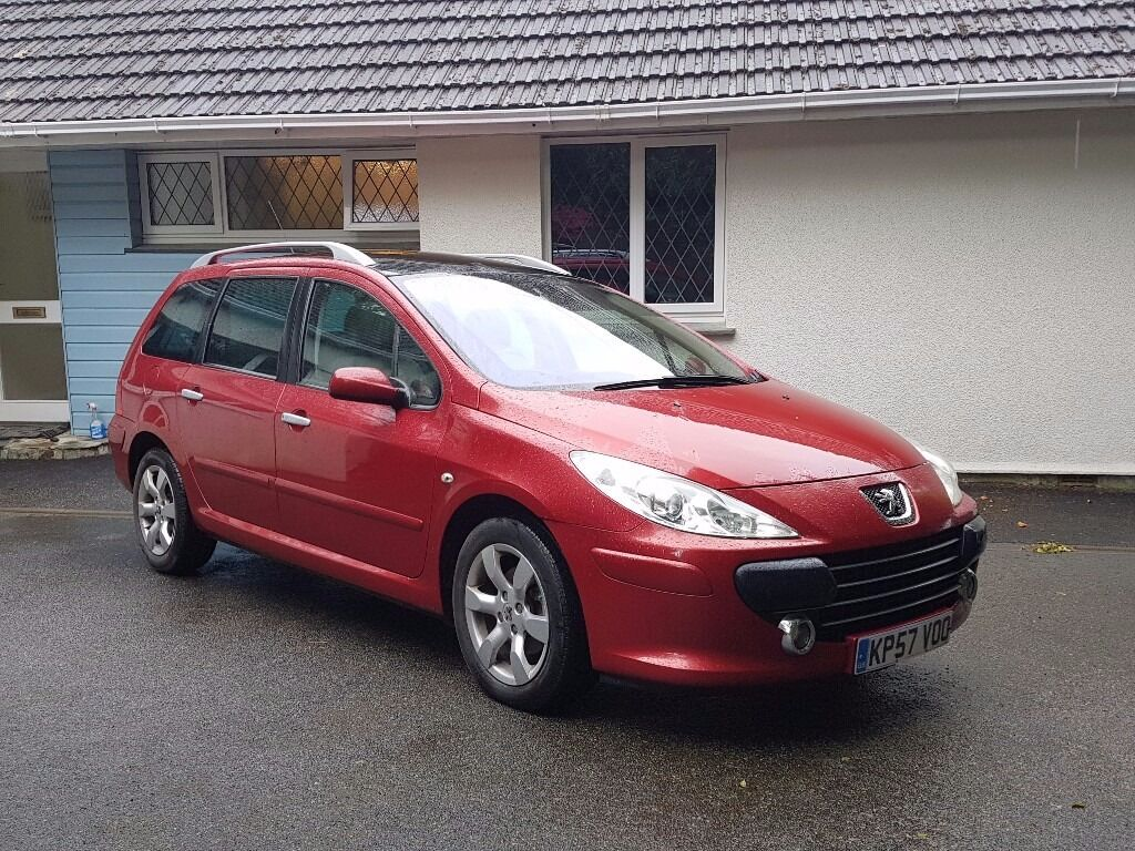 2007 peugeot 307 sw se 1 6 hdi diesel 110 bhp with panoramic roof in diablo red in truro. Black Bedroom Furniture Sets. Home Design Ideas