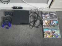 Ps3 slim 160gb with 3 controllers and 6 games £75