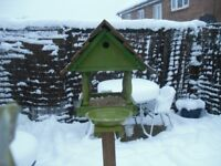 new bird table with bird box and a bath, 35 pound,delivery can be arranged, from shrewsbury