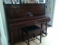 piano for sale, B H BARNES, Upright with stool, good condition,