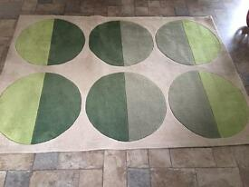 Large cream and green rug 140x200cm. 25 pound. Collection abercynon. Can also deliver 07772325752