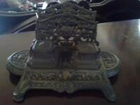 Letter -Ink stand, collectible, bronze color