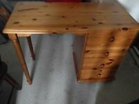 pine dressing table and bedside table