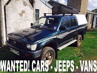 Toyota hiace & hilux wanted!!!