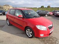2010 SKODA FABIA 1.4 TDI PD GREENLINE 5 DOOR HATCHBACK RED LOW MILEAGE