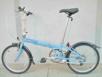Near New Dahon Speed Folding Bike With Bag & Extras