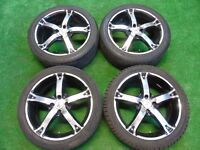 "BK RACING 17"" inch ALLOY WHEELS TO FIT VW POLO, LUPO, CLIO, MICRA, CORSA"