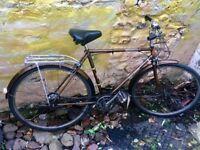 "Vintage retro Raleigh Esquire town bike 3 speed 21"" frame 26"" wheels"