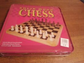 WOODEN CHESS SET - UNOPENED. IDEAL CHRISTMAS PRESENT!