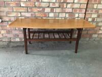 Vintage Ladder Bottom Coffee Table Mid Century Retro