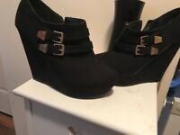 New look wedge shoe boot
