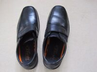 MENS BLACK SHOES FROM M&S (HARDLY WORN) SIZE 9