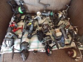 Fishing reels some for parts most complete only £5 each