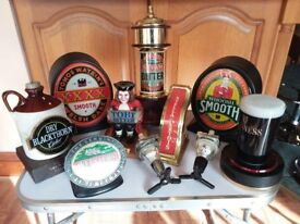 various collectable beer pumps etc mancave/beer garden/bbq