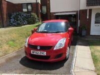 2013 Suzuki Swift 1.2 3-door hatch. Red, Vgc, MOT Nov 2018, low mileage, £30 tax, 1 owner + Suzuki