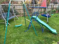 Kids slide and swing