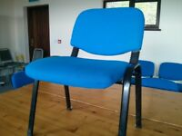 20 x Blue Stackable Fabric Chairs