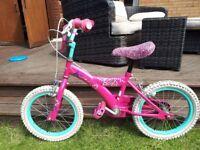 "Girls Barbie 16"" kids bike. Good condition"