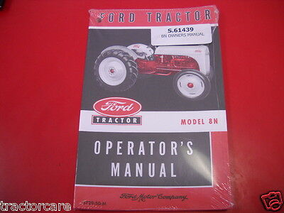 Reproduction Original Ford 8n Antique Tractor Owners Operator Manual 3729-50-m