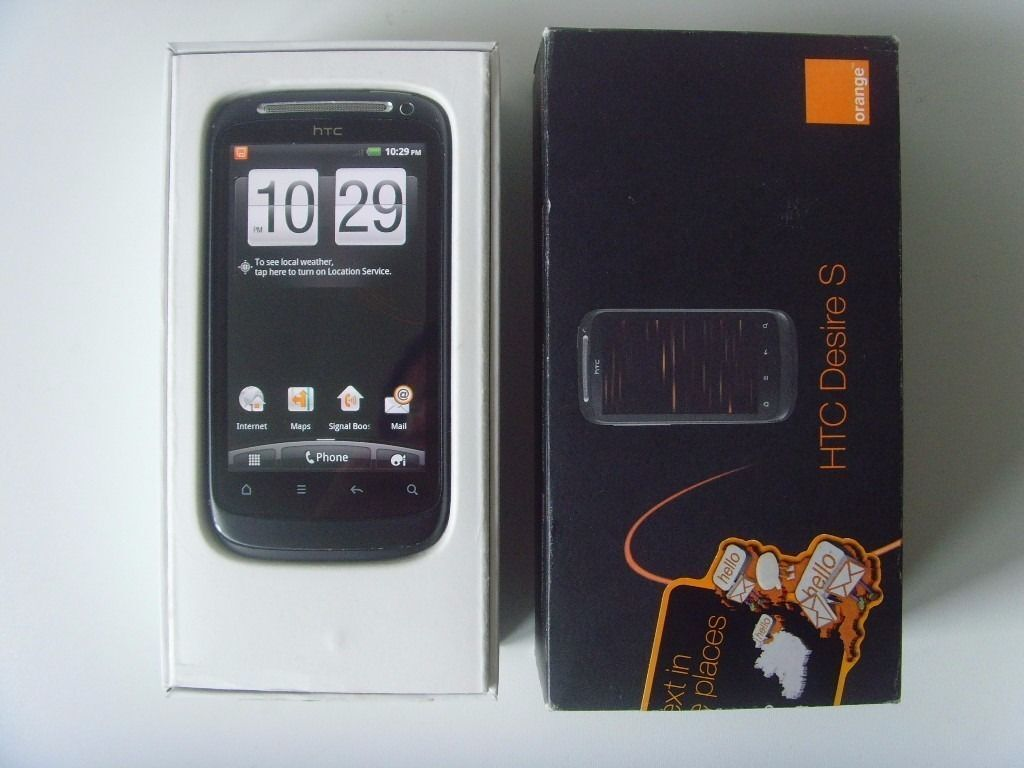 HTC Desire S Black Orangein Motherwell, North LanarkshireGumtree - HTC Desire S Black Orange network Older Smartphone with 2.3 Android and HTC Sense 3.7inch touch screen, GPS, Bluetooth, Wifi, 5M camera In excellent fully working condition, comes boxed with charger Touch screen is like new as screen protector was...