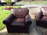 M&S 3 piece leather suite