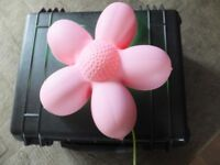 Ikea smila blomma pink flower wall light