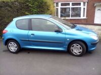 PEUGEOT 206, 2001, EXCELLENT CONDITION, 77,000, IDEAL FIRST CAR, NO RUST, 6 MONTHS MOT £699 ONO