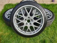 "18"" GENUINE JAGUAR VALENCIA X TYPE BBS RX272 ALLOY WHEELS 4X4M1007AA 5x108"