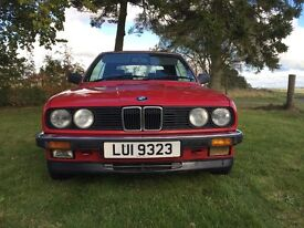 BMW E30 Convertible Cabriolet Zinnoberrot Red Standard Pre face lift Chrome Bumpers 1987