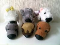 The Dog Collection Lot Of 6 Mini Plush Soft Toy Dogs