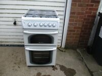 Gas Cooker,, 4 months old Hotpoint double oven.. Ovens never been used.. In new condition