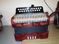 A Black Dot Hohnor accordion, BC Tunning quick sale £325