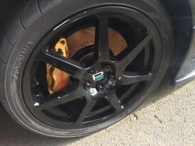 18' Subaru Prodrive WRX STI Alloy wheels and tyres