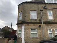 First floor flat 10 Charles street elland Double glazed central heating clean dss welcome .
