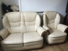 Quality secondhand leather suites from £345