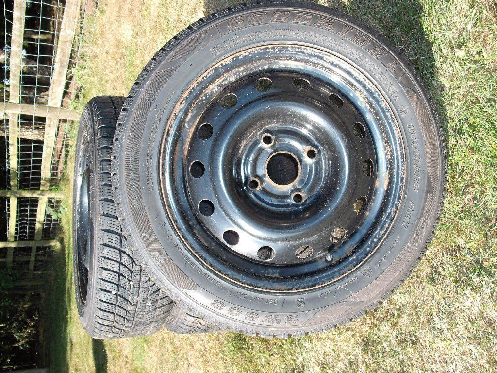 """Snow Tyres 195/55/R15 89H with Chevrolet / Daewoo Lacetti 15"""" Steel Rims for sale"""