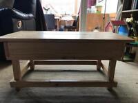 Handmade coffee table with storage